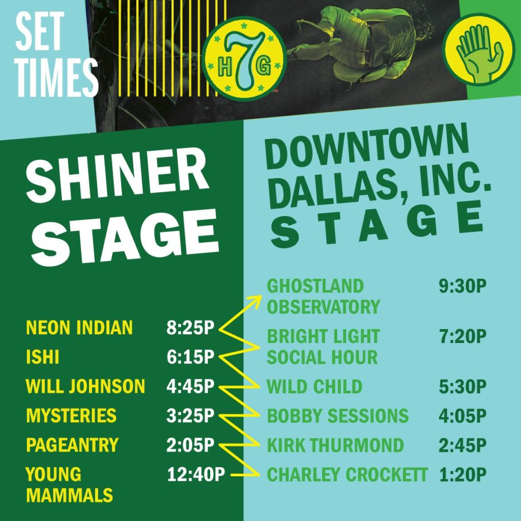 homegrown fest dallas stage schedule ghostland observatory